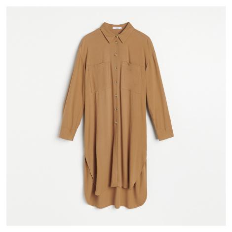 Reserved - Dlhá oversize košeľa - Hnědá