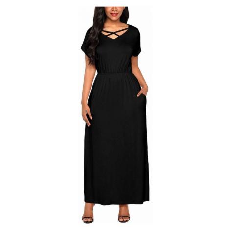 Dlhé dámske šaty Skylar - čierne