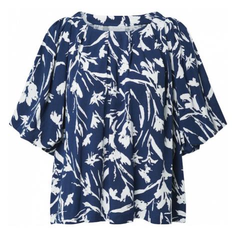 VILA Tričko 'RUMINA'  námornícka modrá / šedobiela