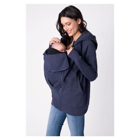 Modrá tehotenská mikina 3 v 1 Connor