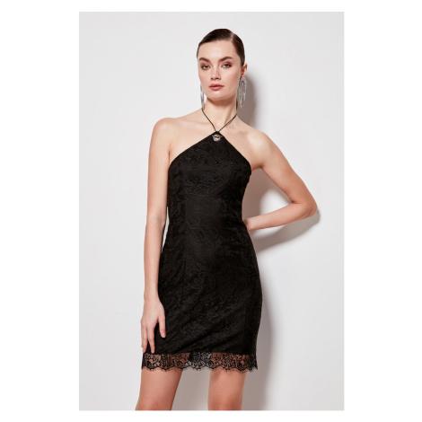 Trendyol Black Accessory Detailed Dress Black
