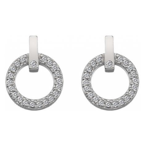 Hot Diamonds Trblietavé náušnice s pravým diamantom Flora DE580