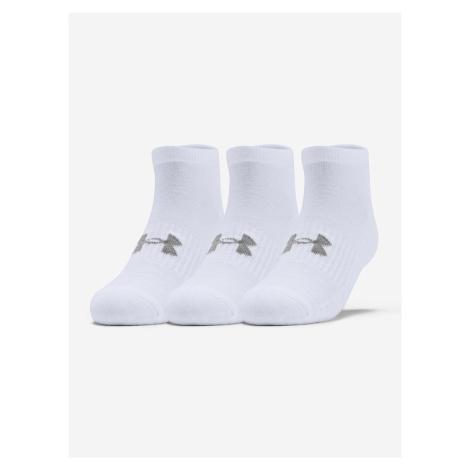 Ponožky Under Armour Training Cotton Locut Biela