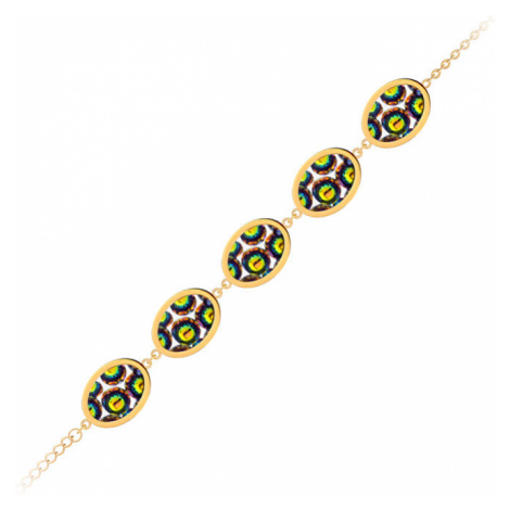 Preciosa Obojstranný náramok s trblietavými kryštálmi Idared 7363Y41