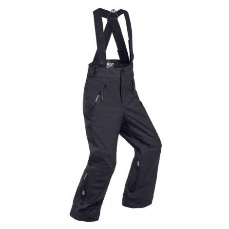 WEDZE Detské lyžiarske nohavice PNF 900 hrejivé a nepremokavé čierne ČIERNA 10 ROKOV