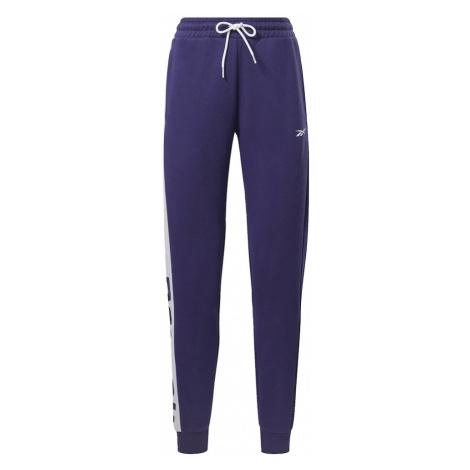 REEBOK Športové nohavice  biela / baklažánová
