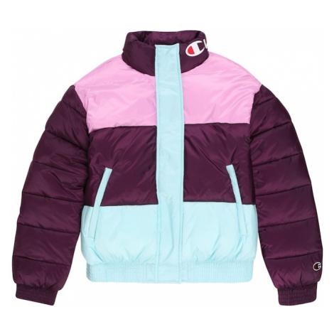 Champion Authentic Athletic Apparel Zimná bunda  ružová / svetlomodrá / burgundská