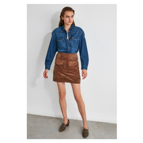 Trendyol Mink Pocket Detailed Skirt