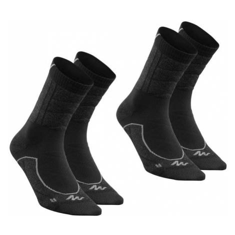 QUECHUA Ponožky Vysoké Mh 900 2 Ks