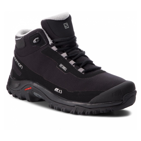 Trekingová obuv SALOMON - Shelter Cs Wp 404729 27 V0 Black/Black/Frost Gray