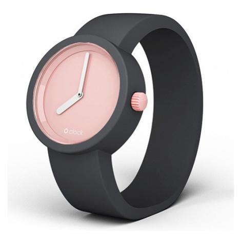 Obag o clock ciferník ružový a o clock náramok sivý veľkosť: O bag