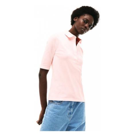 Lacoste S S/S BEST POLO svetlo ružová - Dámske polo tričko