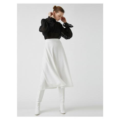 Koton Women's High Waist Midi Skirt