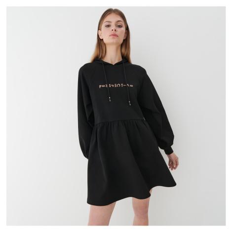 Mohito - Teplákové šaty s kapucňou - Čierna