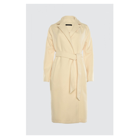 Trendyol Stone Beltpocket Detailed Long Cachet Coat
