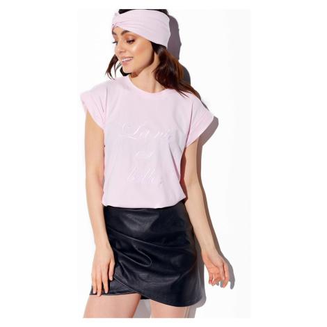Dámske svetloružové tričko s krátkym rukávom LG529 Lemoniade