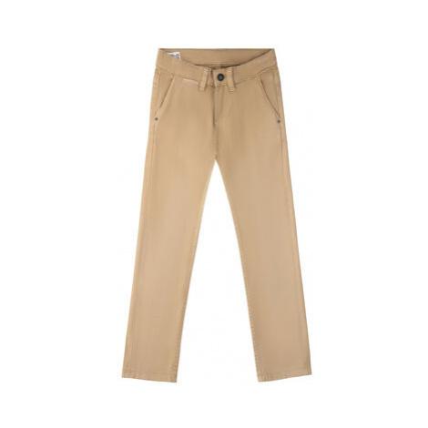 Pepe Jeans Bavlnené nohavice PB210138C41 Béžová Regular Fit