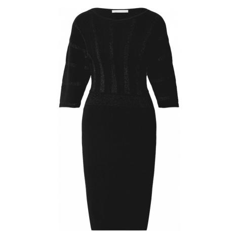 BOSS Casual Pletené šaty 'Fayuria'  čierna