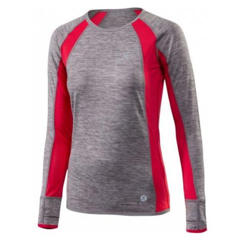 Klimatex DR DORINA šedá - Dámske bežecké tričko s dlhým rukávom