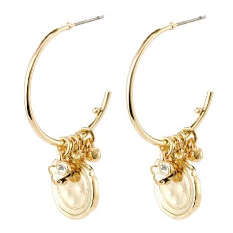 Pilgrim Náušnice 'Earrings Air'  zlatá