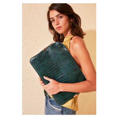 Trendyol Green Kroko Women's Laptop & Briefcase