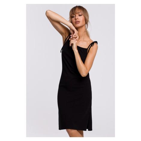 Čierne midi šaty M516 Moe