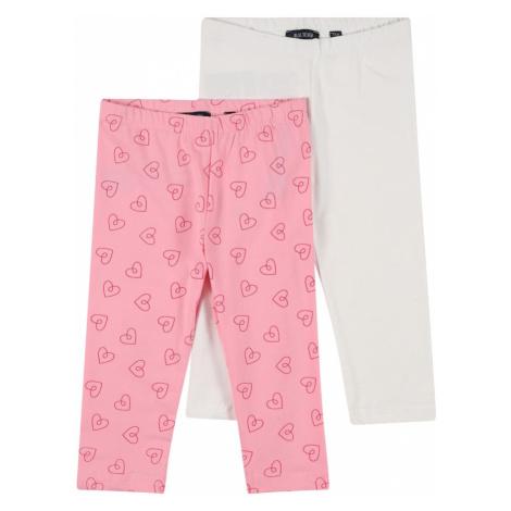 BLUE SEVEN Nohavice  biela / ružová / eozín