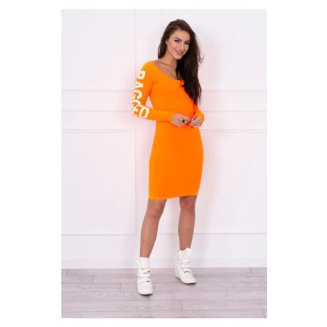 Dress Ragged orange neon