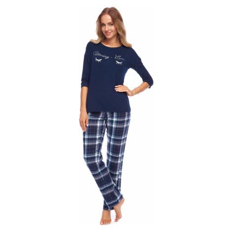 Dámske pyžamo Rossli Nadia SAL-PY-1146 Darkblue LL Tmavě modrá