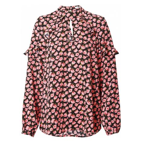 GLAMOROUS Tunika  ružová / čierna / zelená