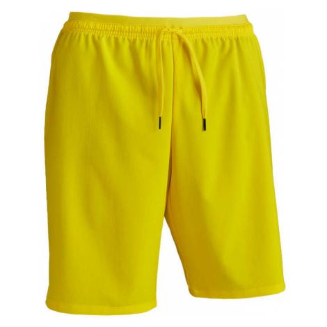 KIPSTA Futbalové šortky pre dospelých F500 žlté ŽLTÁ L