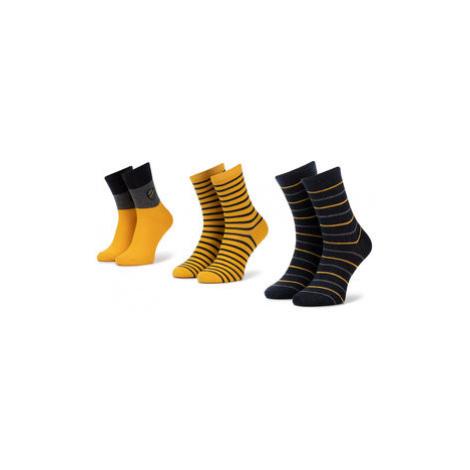 Mayoral Súprava 3 párov vysokých detských ponožiek 10675 Žltá