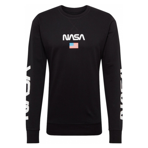 Mister Tee Mikina 'NASA'  čierna / modrá / červená
