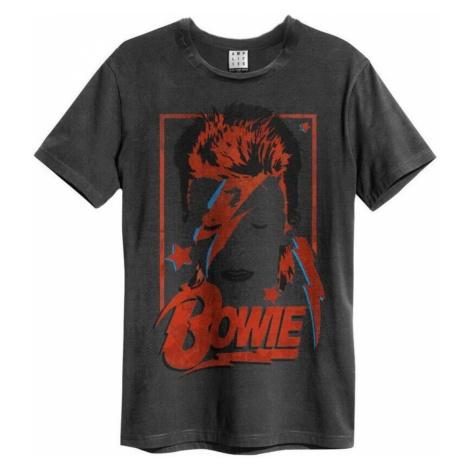 Tričko metal AMPLIFIED David Bowie Aladdin Sane Anniversary Čierna