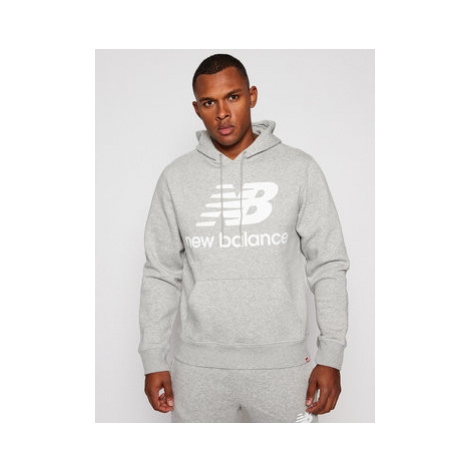 New Balance Mikina MT03578 Sivá Relaxed Fit