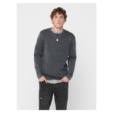 Šedý sveter ONLY & SONS Garson