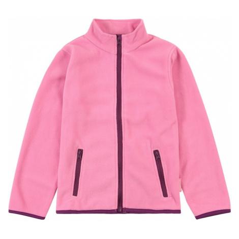 PLAYSHOES Flisová bunda  ružová / tmavofialová
