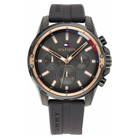 TOMMY HILFIGER Analógové hodinky 'MASON'  tmavosivá / ružové zlato