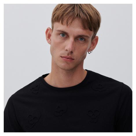 Reserved - Vzorované tričko - Čierna
