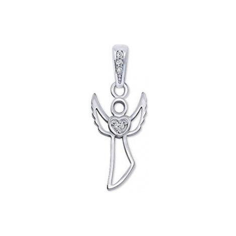 Brilio Pôvabný zlatý prívesok Anjel 001 07