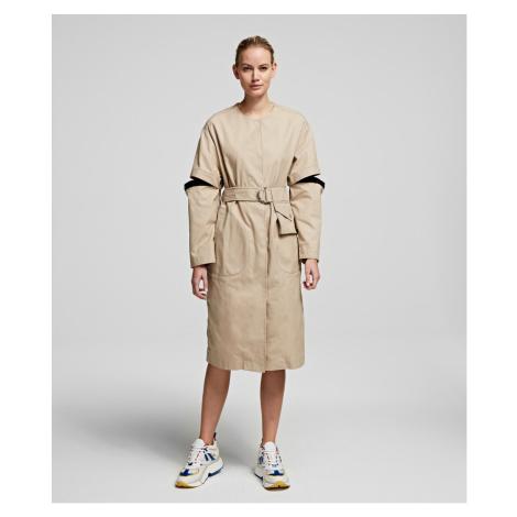 Kabát Karl Lagerfeld Soft Cotton Coat W/ Cut Out