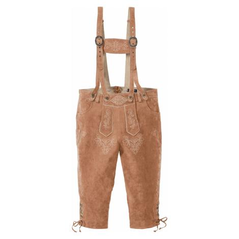 Bavorské kožené nohavice Regular Fit bonprix