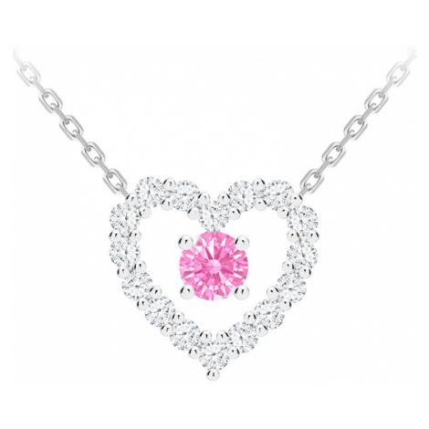 Preciosa Romantický strieborný náhrdelník First Love s kubickou zirkónia Preciosa 69