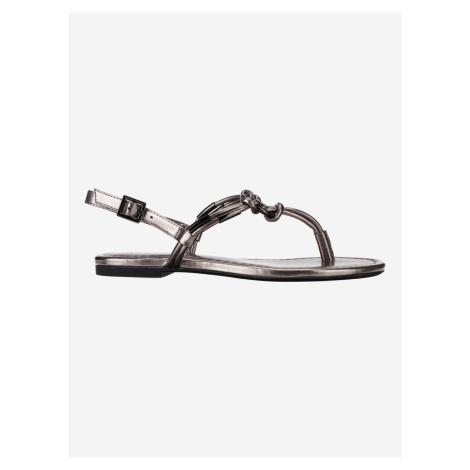 Sandále Armani Exchange Strieborná