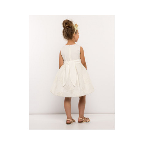 Mayoral Elegantné šaty 3913 Béžová Regular Fit
