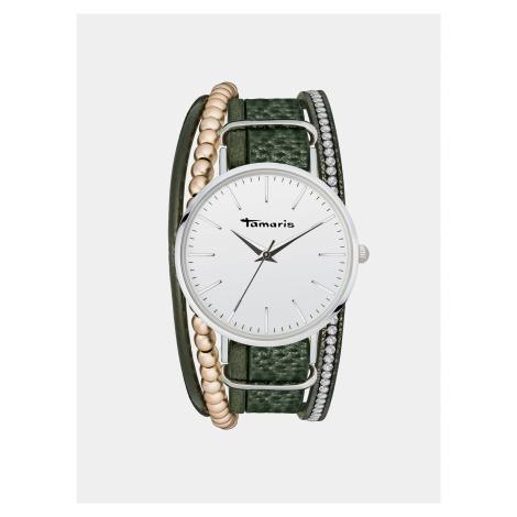Dámske hodinky so zeleným remienkom Tamaris