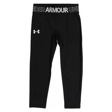 UNDER ARMOUR Športové nohavice  čierna / biela