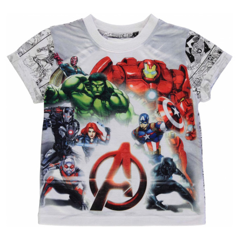 Character Short Sleeve T Shirt Boys Avengers