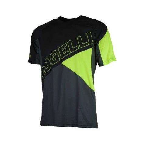 Voľný cyklistický MTB dres Rogelli ADVENTURE s krátkym rukávom a bez vreciek, čierno-reflexná žl