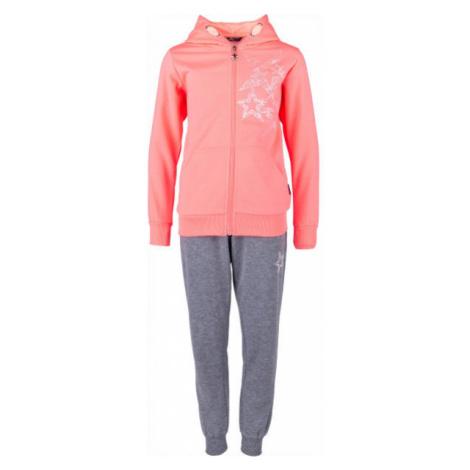 Lewro SHANON ružová - Dievčenská tepláková súprava
